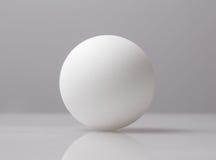 Белый шарик на белой предпосылке Стоковое Изображение RF