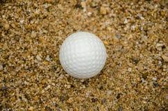 Белый шар для игры в гольф Стоковые Фото