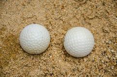 Белый шар для игры в гольф Стоковое Изображение
