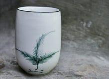 Белый шар для китайского чая puer Стоковое Изображение RF