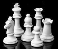 Белый шахмат солдат Стоковая Фотография