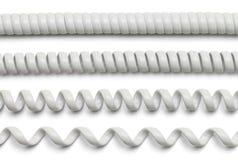 Белый шнур телефона Стоковое фото RF