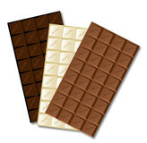 Белый шоколадный батончик бесплатная иллюстрация