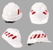 Белый шлем безопасности шлем конструкции трудный Стоковые Фото