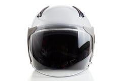 Белый шлем стиля реактивного истребителя Стоковая Фотография