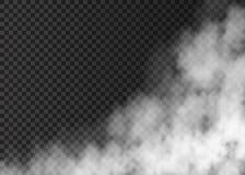 Белый дым на прозрачной предпосылке Стоковое фото RF