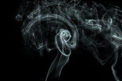 Белый дым на черной предпосылке Стоковое Изображение