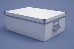 Белый ящик для хранения картона Стоковые Фотографии RF