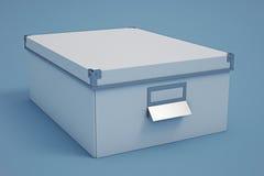 Белый ящик для хранения картона Стоковая Фотография