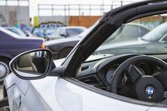 Белый BMW-автомобиль z4 coupe Стоковые Изображения RF