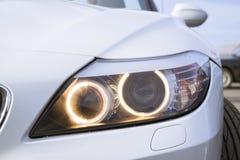 Белый BMW-автомобиль z4 coupe Стоковое Изображение