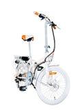 Белый e-велосипед Стоковая Фотография