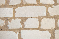 Белый masonry кирпичной стены силиката Стоковая Фотография