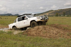 Белый Mazda BT-50 4x4 3L Стоковые Фотографии RF