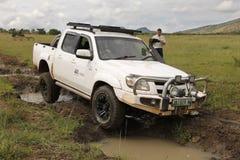 Белый Mazda BT-50 4x4 3L Стоковые Изображения RF