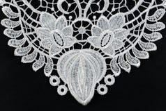 Белый silk шнурок изолят Стоковое Изображение