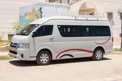 Белый Van стоковое изображение