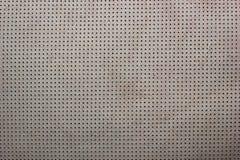 Белым бежевым пефорированная бархатом кожаная предпосылка текстуры Стоковое Фото