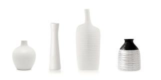 4 белых вазы Стоковое фото RF