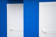 2 белых двери Стоковое Изображение