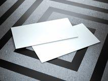2 белых визитной карточки на современном поле Стоковое Изображение RF