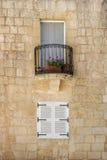 2 белых закрытых окна Стоковое фото RF