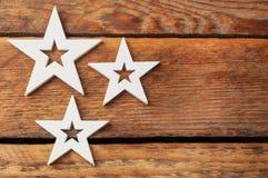 3 белых звезды Стоковое Фото