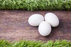 3 белых пасхального яйца Стоковые Изображения