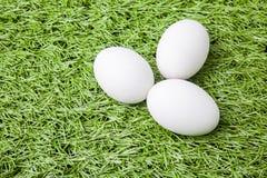 3 белых пасхального яйца Стоковое фото RF