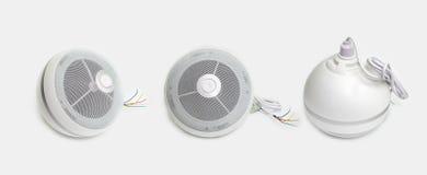 3 белых сферически громкоговорителя Стоковые Фото