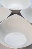 4 белых шара керамики Стоковая Фотография RF