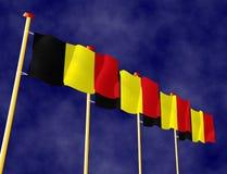 Бельгийские флаги Стоковые Изображения