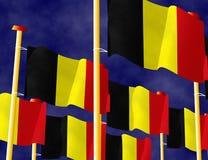 Бельгийские флаги Стоковые Фотографии RF