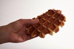 Бельгийские waffles на белизне Стоковые Изображения