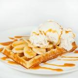 Бельгийские waffles на белом background2 Стоковое Фото