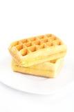 Бельгийские waffles на плите Стоковое Изображение