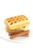 Бельгийские waffles на плите Стоковая Фотография RF