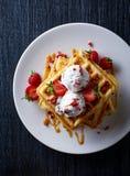 бельгийские waffles Стоковые Фото