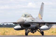 Бельгийский двигатель истребителя F-16 военновоздушной силы Стоковые Изображения