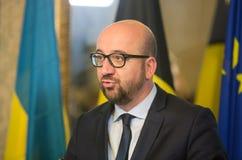Бельгийский премьер-министр Чарльз Мишель Стоковое фото RF