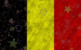 бельгийский флаг Стоковое Изображение RF
