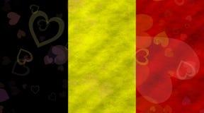 бельгийский флаг Стоковые Изображения