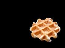 Бельгийский waffle на черной предпосылке Стоковое Изображение