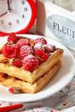 Бельгийский waffle. Стоковые Изображения RF