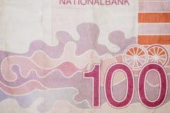 100 бельгийских франков Стоковая Фотография