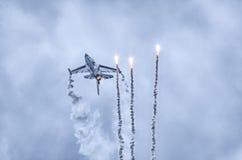 Бельгийское figter F-16 на Радоме Airshow, Польше Стоковые Изображения RF