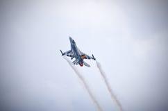 Бельгийское figter F-16 на Радоме Airshow, Польше Стоковое фото RF
