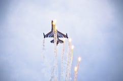 Бельгийское figter F-16 на Радоме Airshow, Польше Стоковое Изображение RF