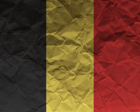 Бельгия скомкала флаг текстурированный бумагой Стоковое Фото