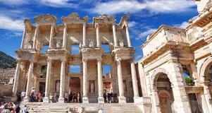 Библиотека Градуса цельсия в древнем городе Ephesus Izmir Турция стоковая фотография rf